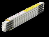 Metr skládací 2m bílý / žlutý