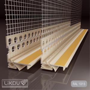 Profil okenní s tkaninou sl.kost 6mm/2.6m