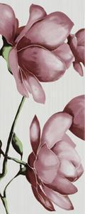 Fiore 20x50 dekor fialová Magnolie