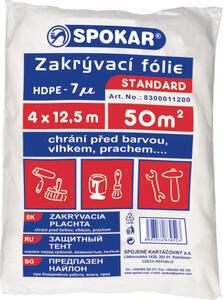 Folie krycí 4x12,5m  tl. 7my  Spokar
