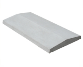 Stříška sedlová hladká průběžná, 31x100x4