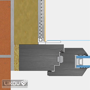 Profil okenní EKO s tkaninou 2.4m VERTEX - 2