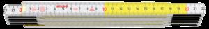 Metr skládací 2m bílý / žlutý - 2
