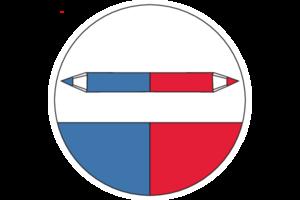 Tužka SOLA červená / modrá - 3